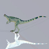 Dilophosaurus. Rendered Image of a Dinosaur - with Clipping Path Stock Photo