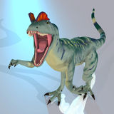Dilophosaurus. Rendered Image of a Dinosaur - with Clipping Path vector illustration