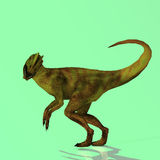 Dilophosaurus. Rendered Image of a Dinosaur - with Clipping Path stock illustration