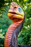 Dilophosaurus Dinosaur - Milwaukee County Zoo stock images