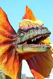 Dilophosaurus dinosaur with orange collar Royalty Free Stock Image
