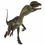 Dilophosaurus-Dinosaurier über Weiß vektor abbildung