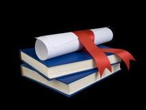 dilploma βιβλίων Στοκ Φωτογραφία