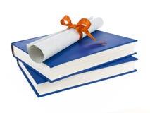 dilploma βιβλίων Στοκ φωτογραφία με δικαίωμα ελεύθερης χρήσης