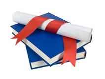 Dilploma e livros Imagens de Stock Royalty Free