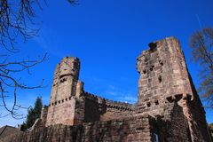 Dilsberg城堡,德国 库存照片