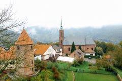 Dilsberg Tyskland Fotografering för Bildbyråer