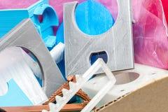 Dilua a engrenagem impressa 3D verde com camadas visíveis de plástico que é sustentável Fotografia de Stock