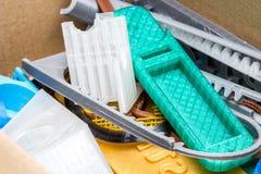 Dilua a engrenagem impressa 3D verde com camadas visíveis de plástico que é sustentável Imagem de Stock Royalty Free