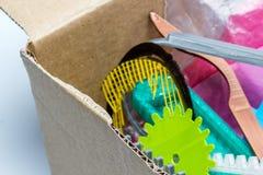 Dilua a engrenagem impressa 3D verde com camadas visíveis de plástico que é sustentável Fotografia de Stock Royalty Free