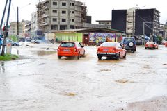 Diluvial rains: identified risk zones in Abidjan Royalty Free Stock Photos