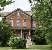 Dilworth House. This is a Summer picture of the Historic Robert Dilworth House located in Vermont, Illinois in Fulton County. This house was built by S.sS stock photography