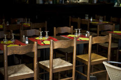 Dim Dining Tables Stock Images