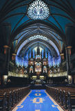 Dim Lighted Church With High Ceiling With No People Royalty Free Stock Photos