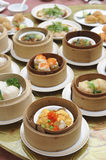 Dim sum, asian cuisine menu Stock Image