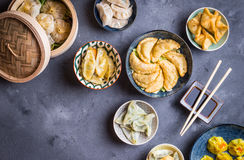 Dim sum assorted stock photo