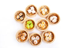 Dim Sum. In Bamboo Steamed Bow stock photos