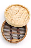 Dim sum bamboo steamer basket Royalty Free Stock Photography