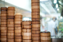 Dim Sum Bamboo Steamers Royalty Free Stock Photos