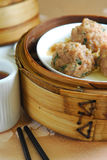 Dim sum beef ball. Steam dim sum beef ball Royalty Free Stock Photo