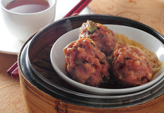 Dim sum beef ball Stock Images