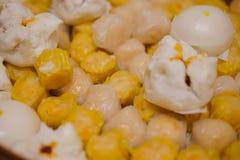 Dim Sum-bollen en gestoomde broodjes Stock Foto