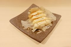 The Dim sum call Gyoza, asian tradition food Royalty Free Stock Image