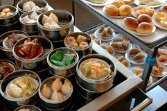 Dim Sum Carts Stock Photography