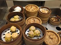 Dim Sum-Chineselebensmittel Stockfotos