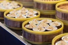 Dim sum chino cocido al vapor Foto de archivo libre de regalías