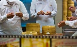 Dim sum cinese degli gnocchi Fotografia Stock