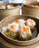 Dim sum,Dumpling in the basket Stock Photos