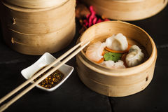 Dim Sum dumplings. Chinese traditional food. Restaurant royalty free stock photos