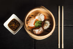 Dim Sum dumplings. Chinese traditional food. Restaurant royalty free stock photography