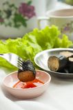 Dim sum eating Stock Photo