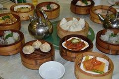 Dim sum, estilo preferido de la cocina del cantonese fotos de archivo libres de regalías
