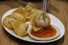 Dim sum fritado chinês Fotografia de Stock Royalty Free