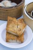 Dim sum frito de la torta del ñame Imagen de archivo libre de regalías