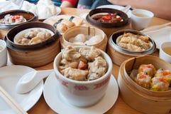 Dim Sum jest stylu jedzeniem Popularny naczynie jedzący w ranku Obraz Stock