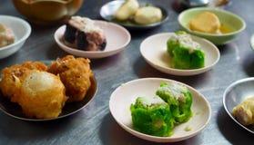 Dim Sum kinesisk mat på tabellen Royaltyfri Foto