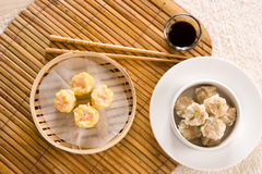 Dim-Sum, Shirmp and Pork Royalty Free Stock Images