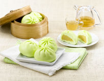 Dim Sum Steamed Dumpling In The Bamboo Basket Royalty Free Stock Images