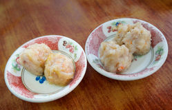 Dim sum, Steamed shrimp dumpling in bowl Stock Photography