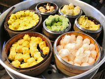 Dim sum in steamer Royalty Free Stock Photography