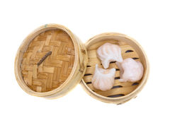 Dim sum. Traditional chinese starter on white background royalty free stock photography