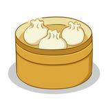 Dim Sum in un vapore illustrazione di stock