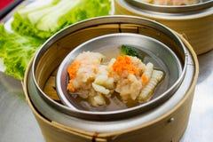 Dim Sum-voorgerecht Chinese stijl Royalty-vrije Stock Foto's