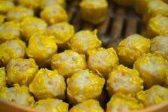 Dim sum, yumcha, dim sum in bamboestoomboot, Chinese keuken, Type Royalty-vrije Stock Foto's
