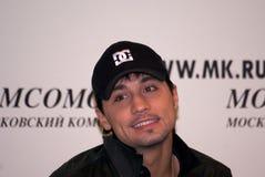 Dima Bilan Eurovisie 2008 winnaar Stock Foto
