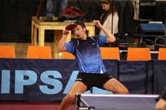 Dima Prokopcov - table tennis Royalty Free Stock Images